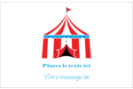 Chapiteau de cirque Cartes Et Articles D'Artisanat Imprimables - gabarit prédéfini. <br/>Utilisez notre logiciel Avery Design & Print Online pour personnaliser facilement la conception.