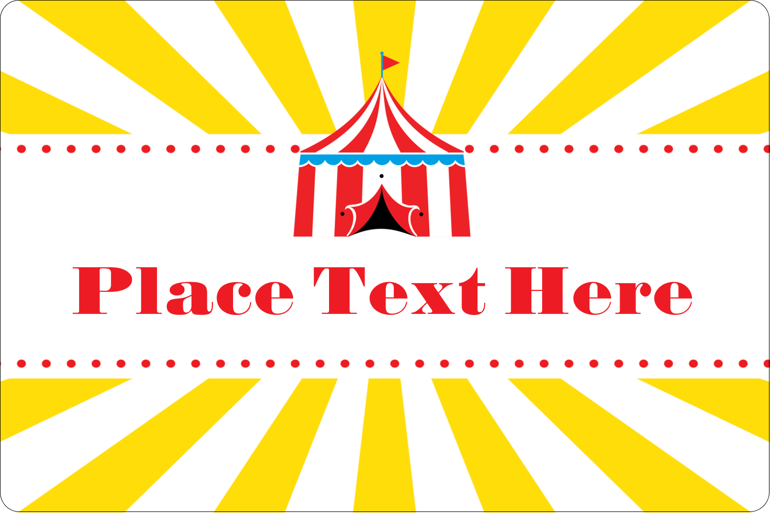 "2"" x 3"" Rectangular Label - Circus Tent"