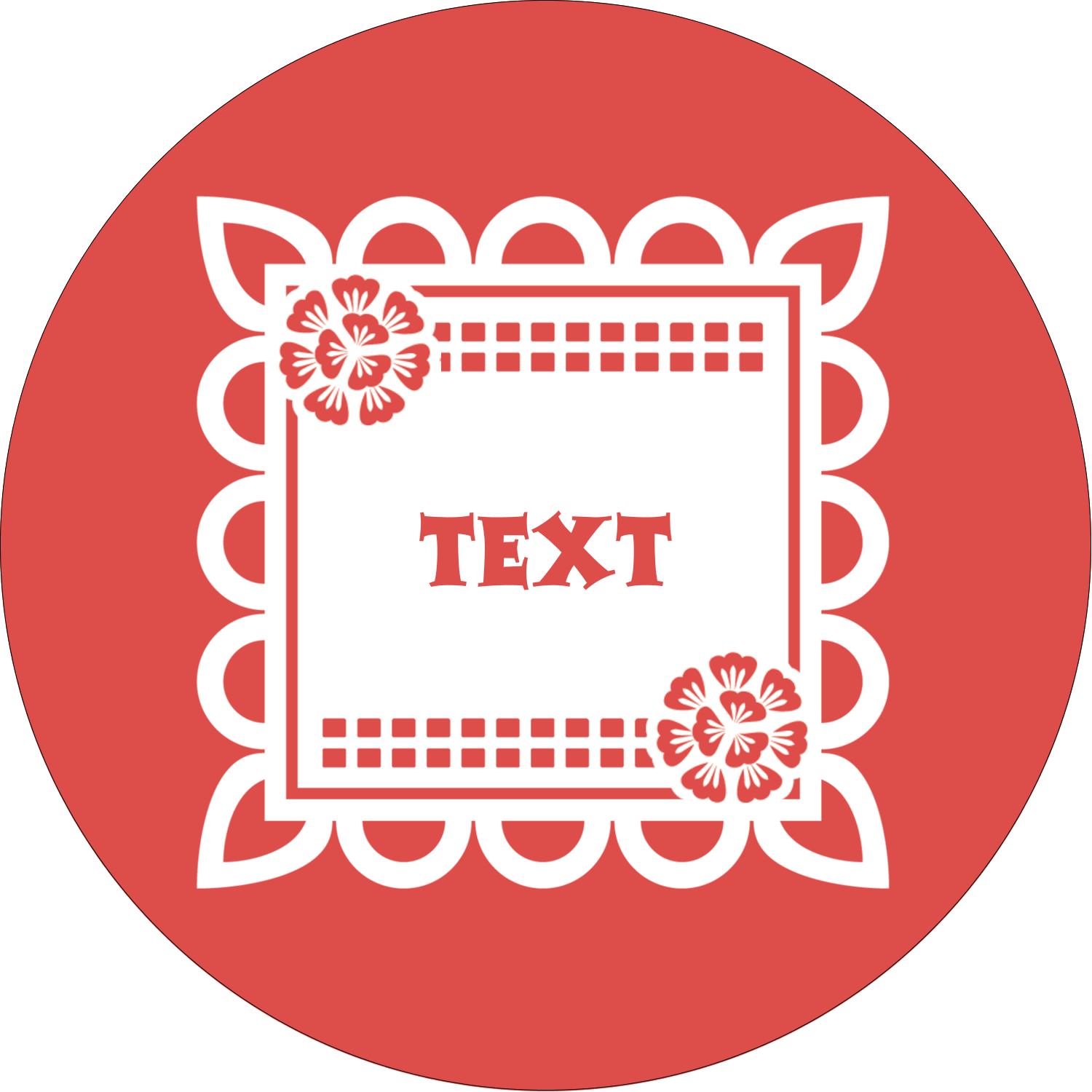 "2½"" Round Label - Cinco de Mayo Papel Picado"