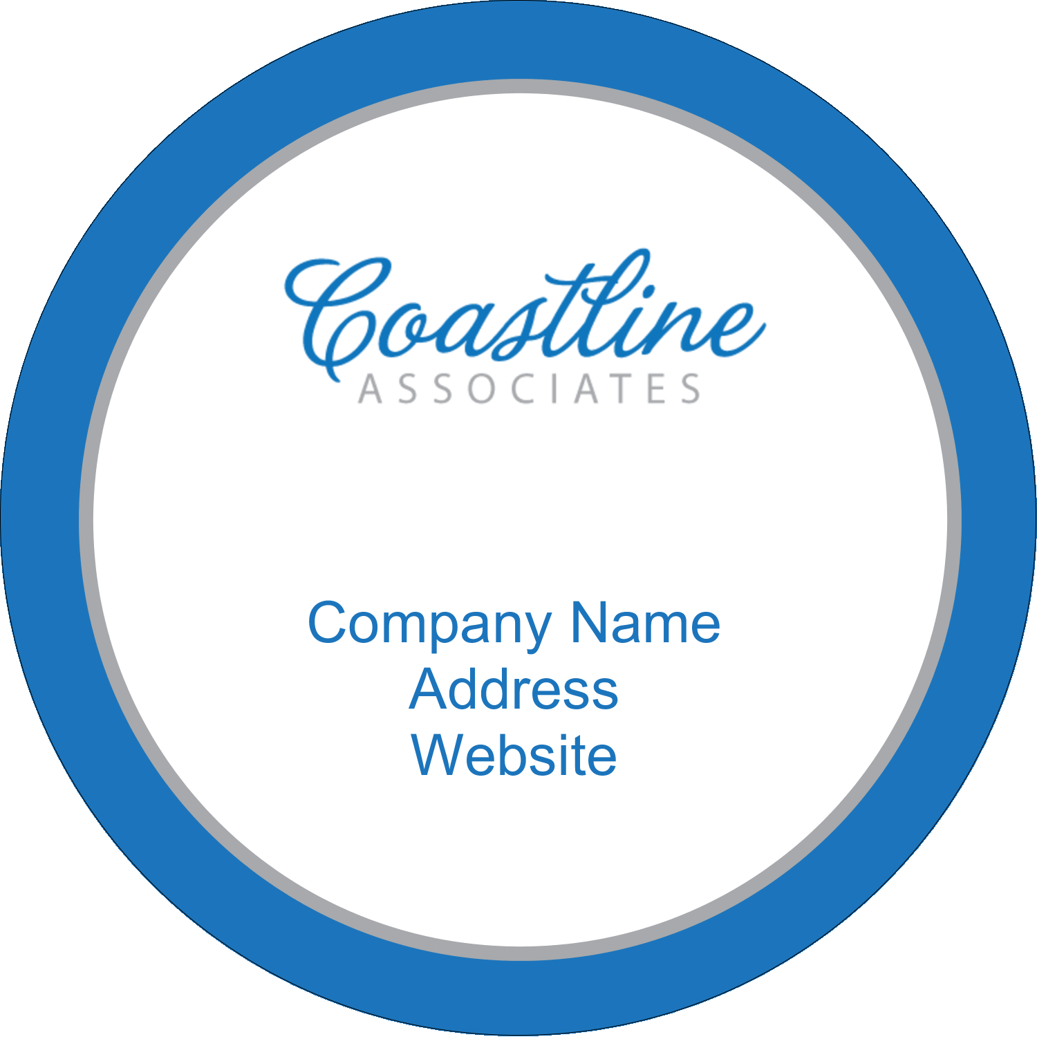 "2"" Round Label - Coastline Blue"