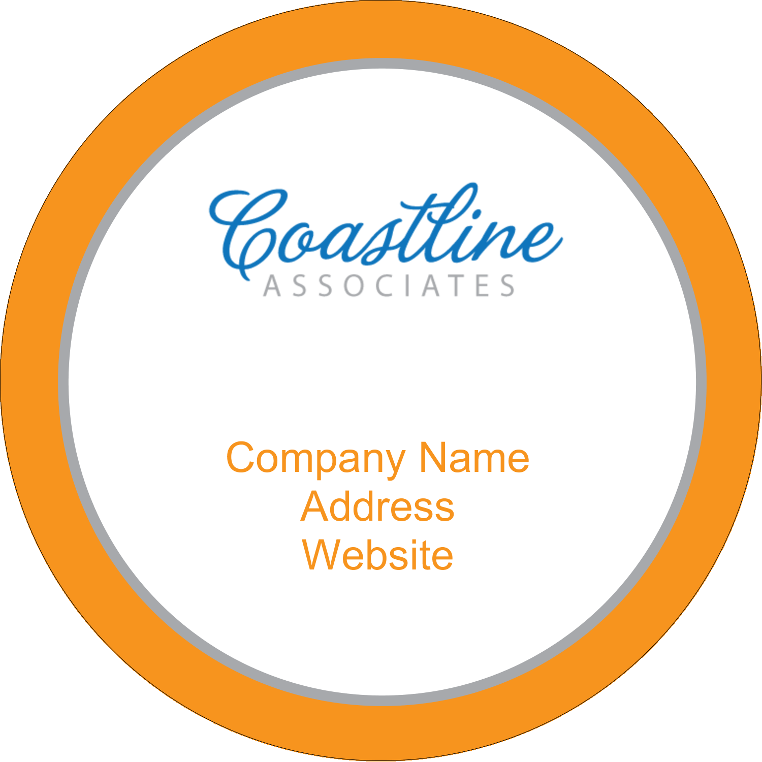 "2"" Round Label - Coastline Orange"