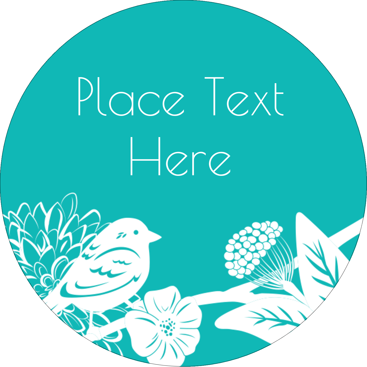 "2"" Round Label - Signs of Spring"