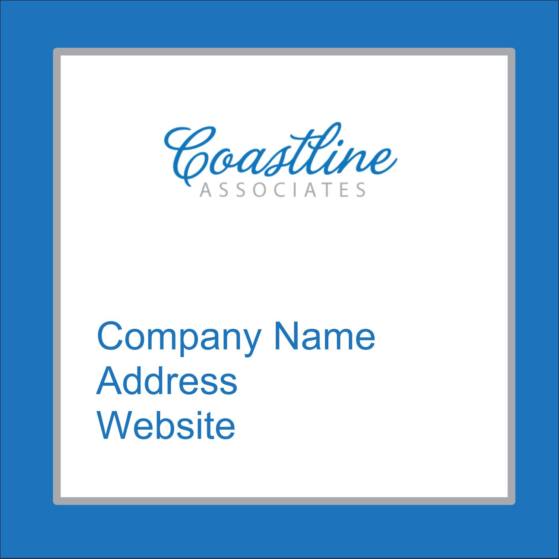 """2"""" x 2"""" Square Label - Coastline Blue"""