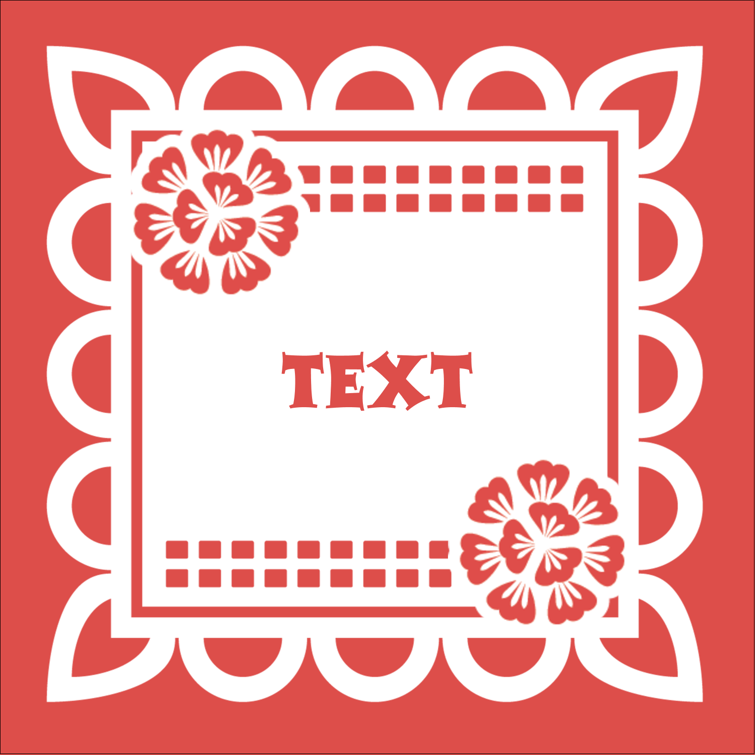 "2"" x 2"" Square Label - Cinco de Mayo Papel Picado"