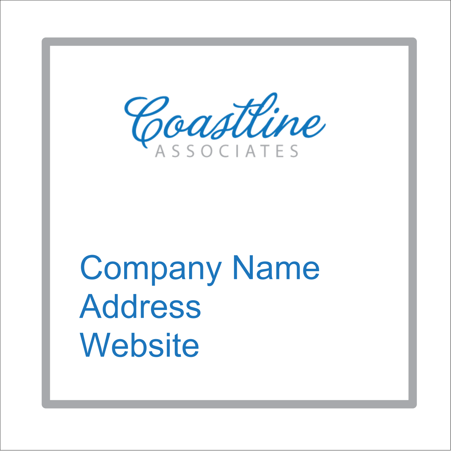 "1½"" x 1½"" Square Label - Coastline Blue"