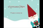 Lutin de Noël Étiquettes rondes gaufrées - gabarit prédéfini. <br/>Utilisez notre logiciel Avery Design & Print Online pour personnaliser facilement la conception.