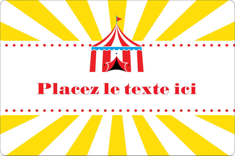"""3"""" x 3¾"""" Étiquettes rectangulaires - Chapiteau de cirque"""