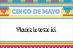 Serape de Cinco de Mayo Étiquettes rectangulaires - gabarit prédéfini. <br/>Utilisez notre logiciel Avery Design & Print Online pour personnaliser facilement la conception.