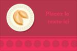 Nouvel An chinois avec biscuit Étiquettes rectangulaires - gabarit prédéfini. <br/>Utilisez notre logiciel Avery Design & Print Online pour personnaliser facilement la conception.