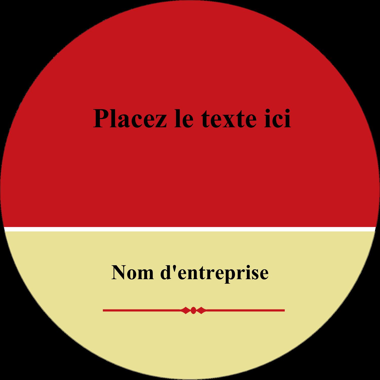 """3"""" x 2¼"""" Étiquettes arrondies - Laine classique"""