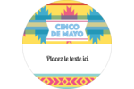 Serape de Cinco de Mayo Étiquettes rondes - gabarit prédéfini. <br/>Utilisez notre logiciel Avery Design & Print Online pour personnaliser facilement la conception.