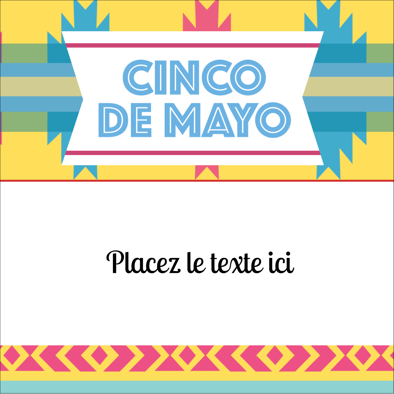 """2"""" Diameter Étiquettes rondes - Serape de Cinco de Mayo"""