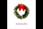 Couronne de Noël Étiquettes carrées - gabarit prédéfini. <br/>Utilisez notre logiciel Avery Design & Print Online pour personnaliser facilement la conception.