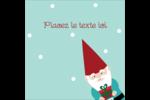 Lutin de Noël Étiquettes carrées - gabarit prédéfini. <br/>Utilisez notre logiciel Avery Design & Print Online pour personnaliser facilement la conception.
