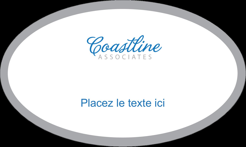 """1½"""" x 1½"""" Étiquettes carrées - Littoral bleu"""