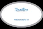 Littoral bleu Étiquettes carrées - gabarit prédéfini. <br/>Utilisez notre logiciel Avery Design & Print Online pour personnaliser facilement la conception.