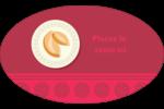 Nouvel An chinois avec biscuit Étiquettes carrées - gabarit prédéfini. <br/>Utilisez notre logiciel Avery Design & Print Online pour personnaliser facilement la conception.