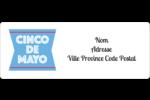 Serape de Cinco de Mayo Étiquettes D'Adresse - gabarit prédéfini. <br/>Utilisez notre logiciel Avery Design & Print Online pour personnaliser facilement la conception.