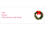 Couronne de Noël Étiquettes D'Adresse - gabarit prédéfini. <br/>Utilisez notre logiciel Avery Design & Print Online pour personnaliser facilement la conception.