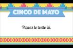Serape de Cinco de Mayo Carte d'affaire - gabarit prédéfini. <br/>Utilisez notre logiciel Avery Design & Print Online pour personnaliser facilement la conception.