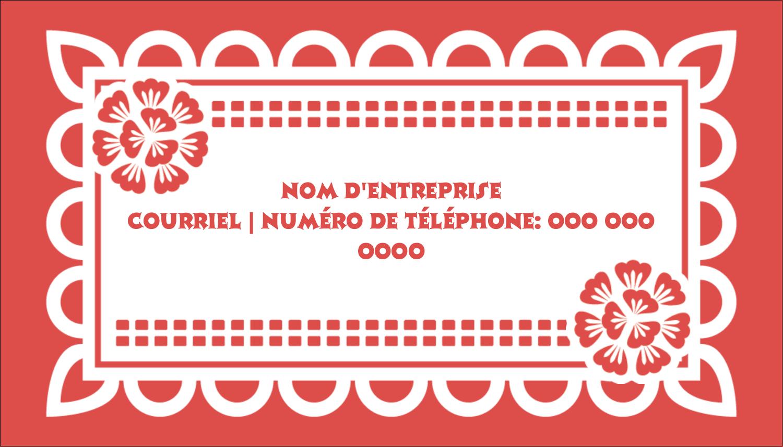 "2"" x 3½"" Carte d'affaire - Confettis de Cinco de Mayo"