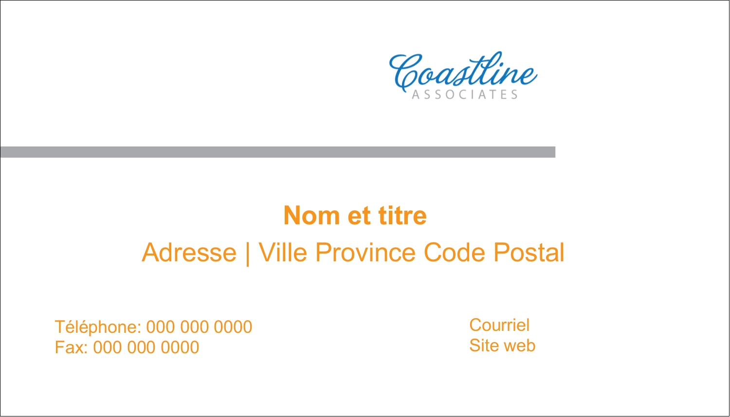 "3"" x 5"" Cartes Pour Le Bureau - Littoral orange"
