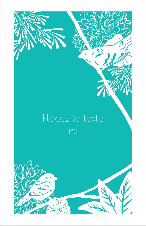 "8½"" x 11"" Binder Insert Reliures - Signes du printemps"
