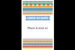 Serape de Cinco de Mayo Reliures - gabarit prédéfini. <br/>Utilisez notre logiciel Avery Design & Print Online pour personnaliser facilement la conception.