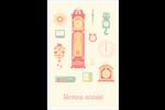 Horloges Reliures - gabarit prédéfini. <br/>Utilisez notre logiciel Avery Design & Print Online pour personnaliser facilement la conception.