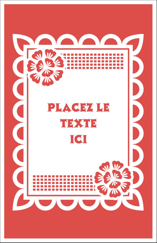 "8½"" x 11"" Binder Insert Reliures - Confettis de Cinco de Mayo"