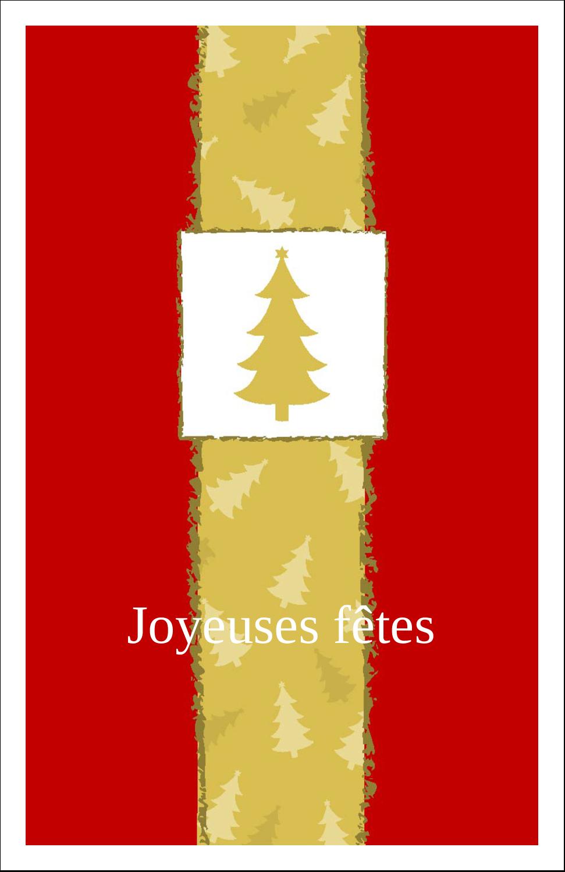 """8½"""" x 11"""" Binder Insert Reliures - Arbre de Noël sur fond rouge"""