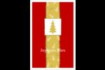 Arbre de Noël sur fond rouge Reliures - gabarit prédéfini. <br/>Utilisez notre logiciel Avery Design & Print Online pour personnaliser facilement la conception.