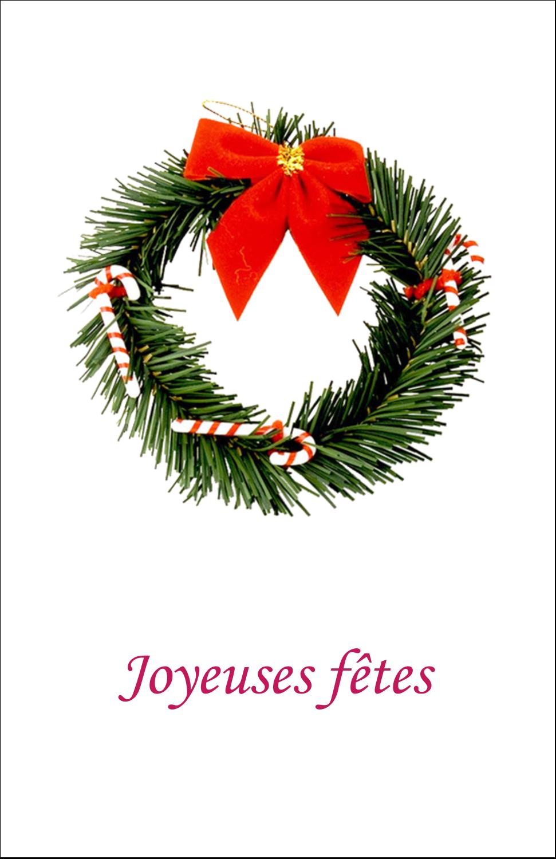 """8½"""" x 11"""" Binder Insert Reliures - Couronne de Noël"""