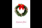 Couronne de Noël Reliures - gabarit prédéfini. <br/>Utilisez notre logiciel Avery Design & Print Online pour personnaliser facilement la conception.