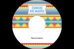 Serape de Cinco de Mayo Étiquettes de classement - gabarit prédéfini. <br/>Utilisez notre logiciel Avery Design & Print Online pour personnaliser facilement la conception.