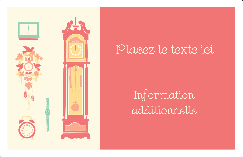 "1½"" x 4"" Étiquettes d'adresse - Horloges"