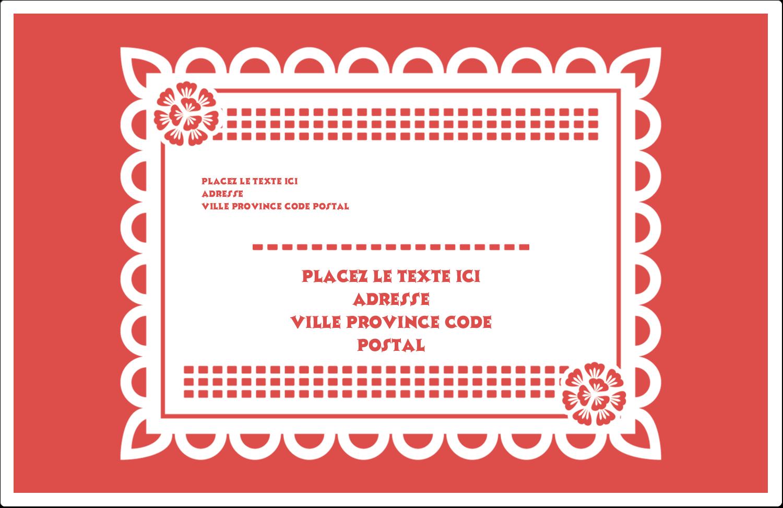 """1½"""" x 4"""" Étiquettes d'adresse - Confettis de Cinco de Mayo"""