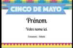 Serape de Cinco de Mayo Étiquettes à codage couleur - gabarit prédéfini. <br/>Utilisez notre logiciel Avery Design & Print Online pour personnaliser facilement la conception.