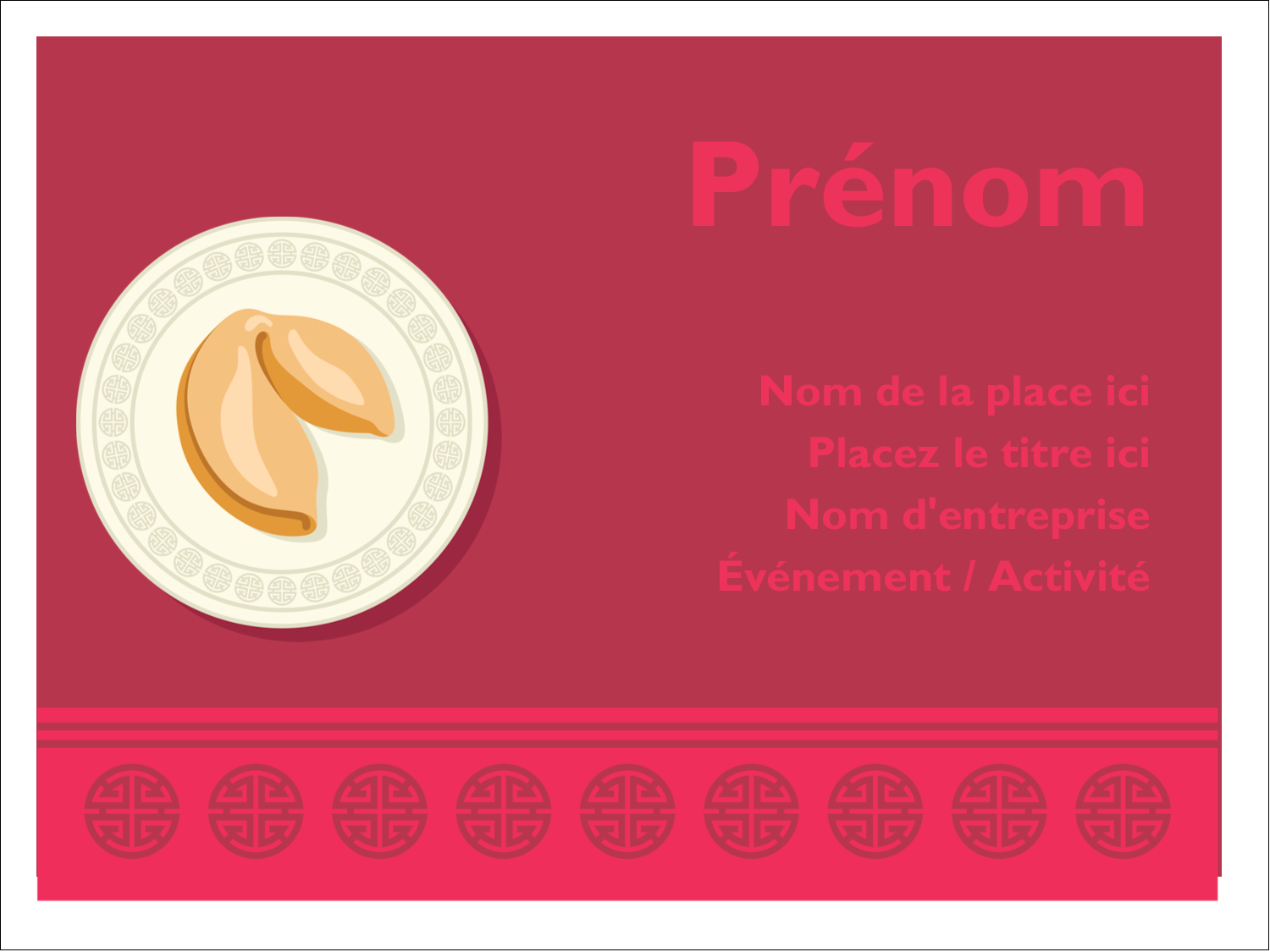 """3"""" x 4"""" Badges - Nouvel An chinois avec biscuit"""