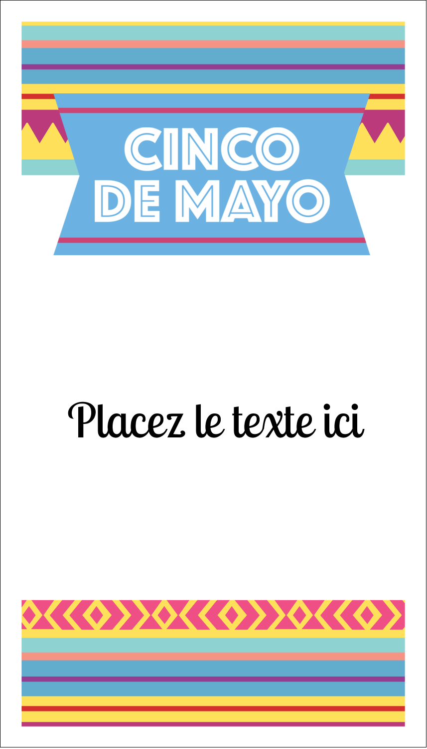 "2"" x 3½"" Carte d'affaire - Serape de Cinco de Mayo"