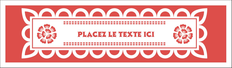 """3½"""" x 11"""" Affichette - Confettis de Cinco de Mayo"""