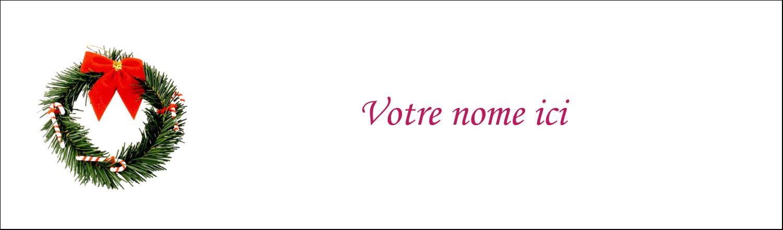 """3½"""" x 11"""" Affichette - Couronne de Noël"""