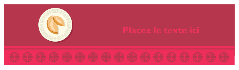 "3½"" x 11"" Affichette - Nouvel An chinois avec biscuit"