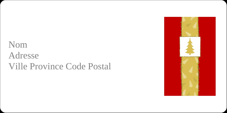 """3-7/16"""" x ⅔"""" Étiquettes de classement écologiques - Arbre de Noël sur fond rouge"""