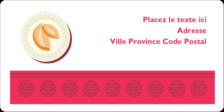"""3-7/16"""" x ⅔"""" Étiquettes de classement écologiques - Nouvel An chinois avec biscuit"""