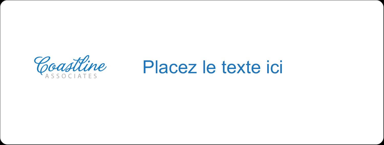 """4"""" x 3⅓"""" Étiquettes D'Identification - Littoral bleu"""