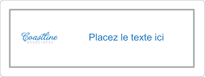 """2⅝"""" x 1"""" Étiquettes Voyantes - Littoral bleu"""