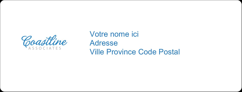 "1"" x 4"" Étiquettes d'adresse - Littoral bleu"