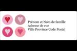 Cœurs encerclés Étiquettes d'adresse - gabarit prédéfini. <br/>Utilisez notre logiciel Avery Design & Print Online pour personnaliser facilement la conception.