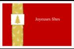 Arbre de Noël sur fond rouge Cartes Et Articles D'Artisanat Imprimables - gabarit prédéfini. <br/>Utilisez notre logiciel Avery Design & Print Online pour personnaliser facilement la conception.